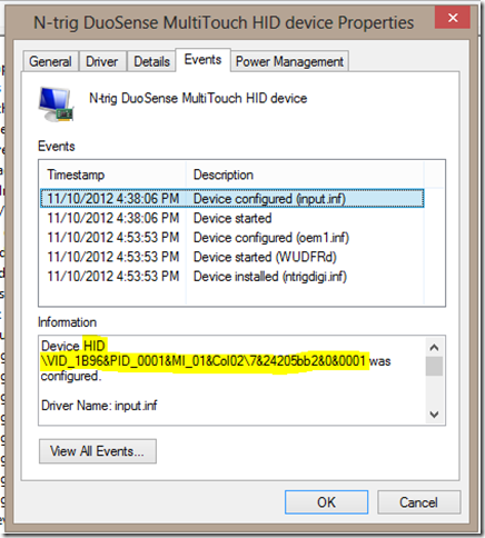 N-trig Device Manager (TouchControl-Events)